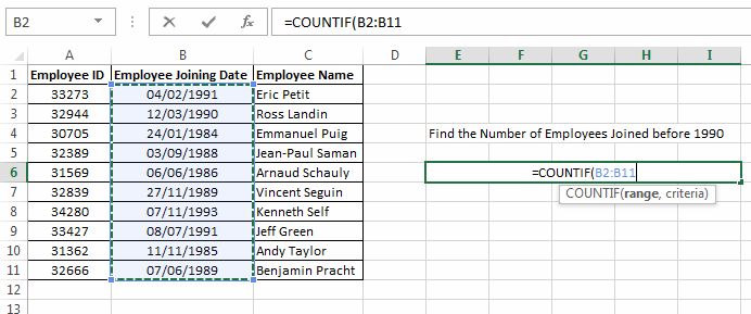 Excel Countif Function How To Use