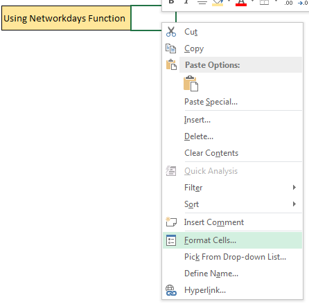 NETWORKDAYS Function In Excel