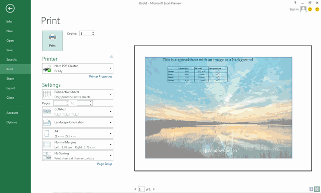 Use An Image As A Background In Excel